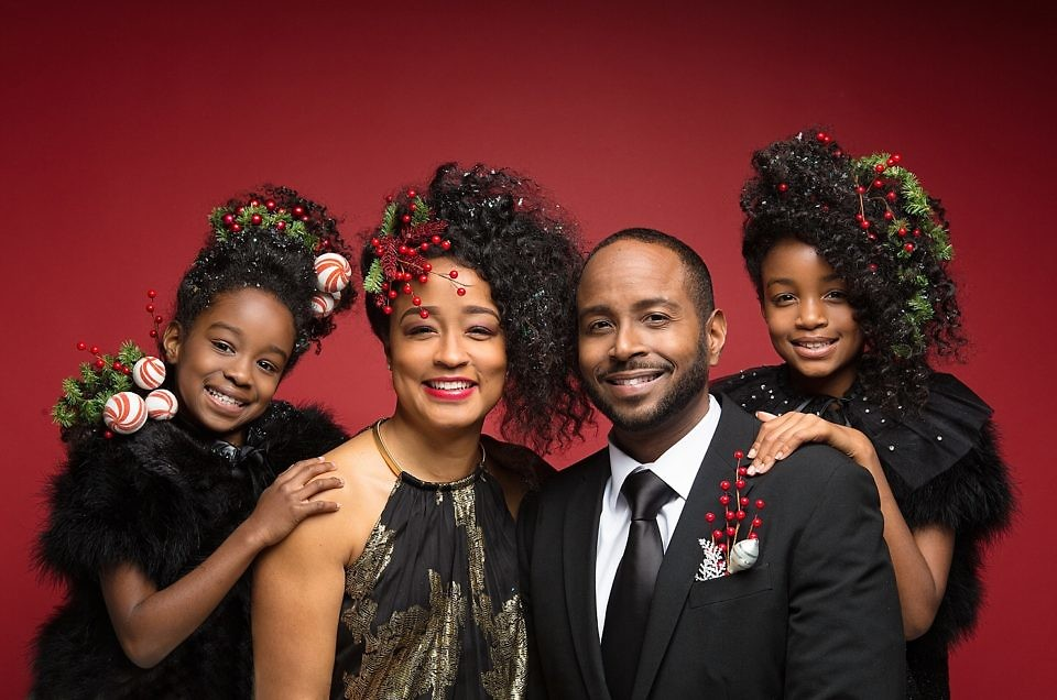 A trendy holiday shoot with the Brown Family