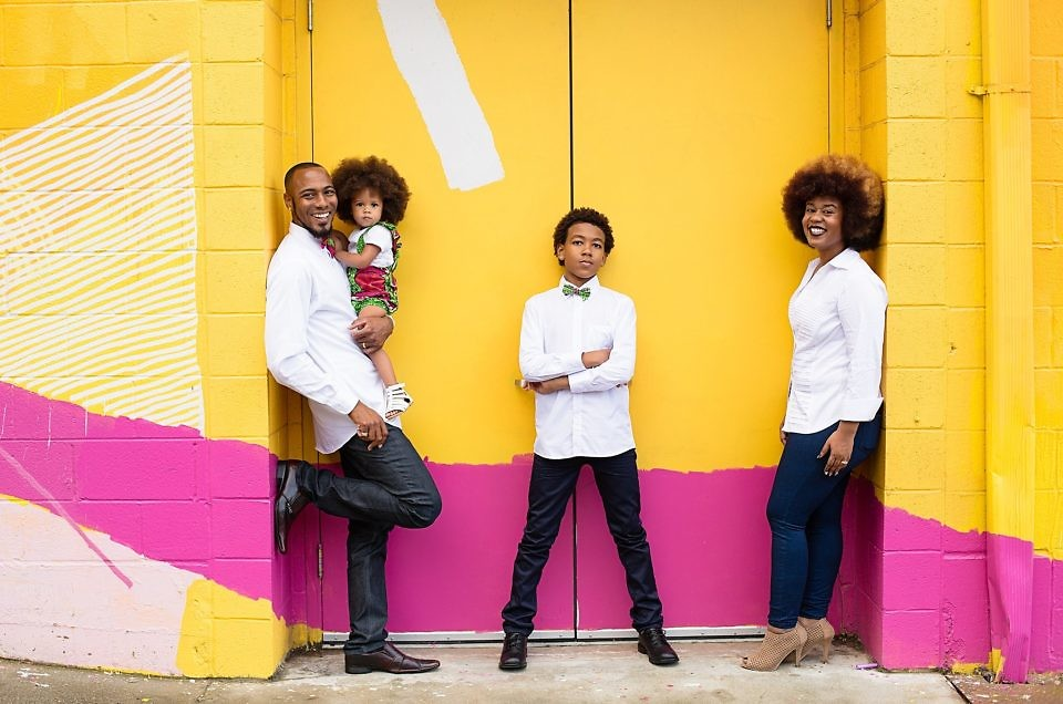 A colorful family shoot