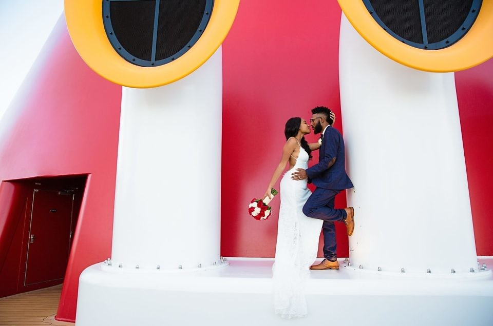 Alia & Deangelo's Fairytale Disney Dream Cruise Wedding