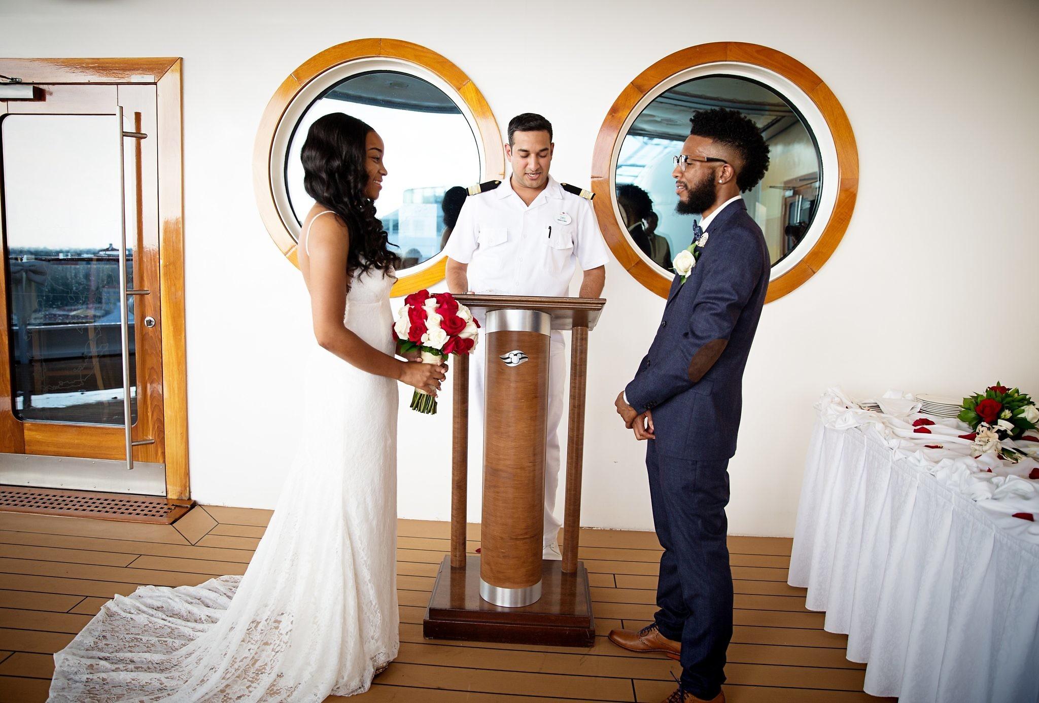 Disney Cruise Wedding.Alia Deangelo S Fairytale Disney Dream Cruise Wedding